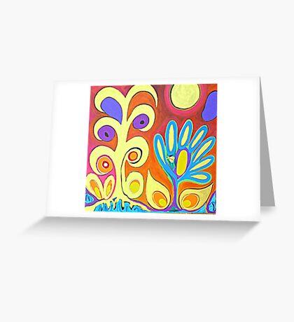 Flower Bug Greeting Card
