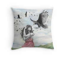 Sisters of the Sun Throw Pillow