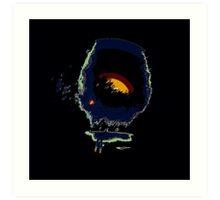 Flipped photo, abstract modern Art Print