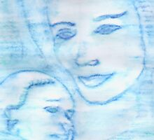 Aquarian Goddess Mother & Child by KimberlyNic