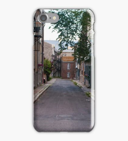 Old Quebec: Early Morning Small Lane iPhone Case/Skin