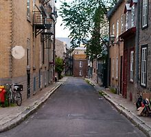 Old Quebec: Early Morning Small Lane by Gary Chapple