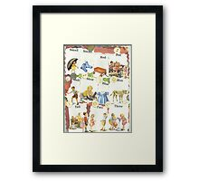 See Dick & Jane's Crazy Quilt.. Framed Print