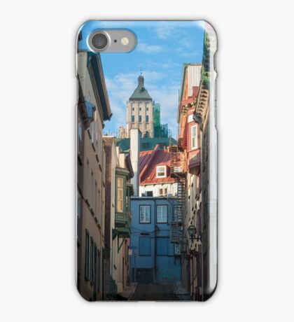 Old Quebec: Early Morning Street iPhone Case/Skin