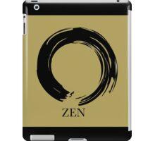 7 DAY'S OF SUMMER-YOGA ZEN RANGE- GOLD ENSO iPad Case/Skin