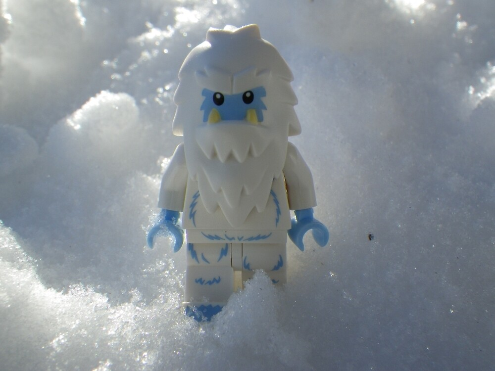 Yeti in the Snow by Shauna  Kosoris