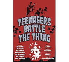 Teenagers Battle The Thing Photographic Print