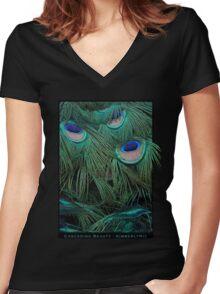 Cascading Beauty Women's Fitted V-Neck T-Shirt