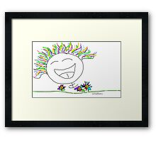 Laugh yourself silly.  Framed Print