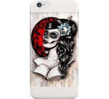 Blue - Day of the dead pinup tattoo iPhone Case/Skin