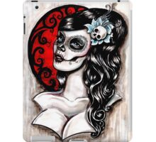 Blue - Day of the dead pinup tattoo iPad Case/Skin