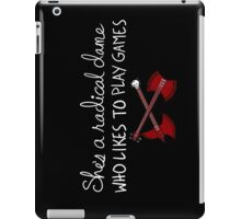 She's a Radical Dame iPad Case/Skin