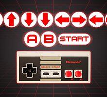 Nintendo, Konami Code , controller by endgameendeavor