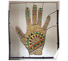 Mehndi Hand (indoors photograph) Poster