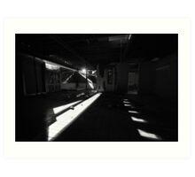 Shards of light, splints of glass Art Print