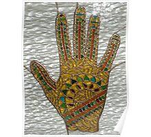 Mehndi Hand (indoor close-up photograph) Poster