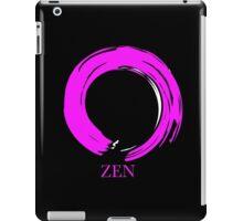 7 DAY'S OF SUMMER-YOGA ZEN RANGE- PINK ENSO ZEN iPad Case/Skin