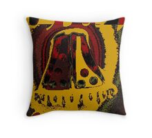 Gold, ruby and emerald, ABSTRACT ART Throw Pillow