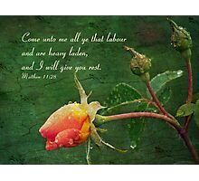 Matthew 11:28 Photographic Print