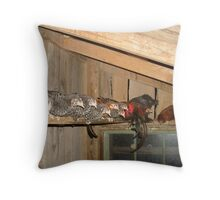 No one but us chickens Throw Pillow