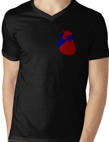 Vector is where the Heart is Mens V-Neck T-Shirt