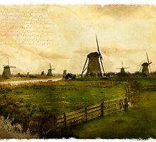 Kinderdijk - Forgotten Postcard by Alison Cornford-Matheson