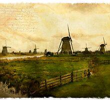 Kinderdijk - Forgotten Postcard by Alison Cornford-Matheson