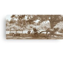 Amish Boat Trailer Metal Print