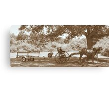 Amish Boat Trailer Canvas Print