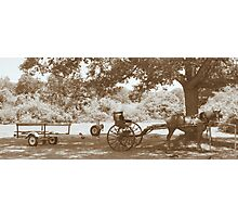 Amish Boat Trailer Photographic Print