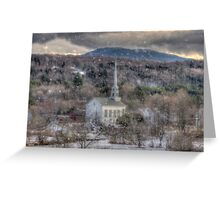 White Church in Vermont Greeting Card