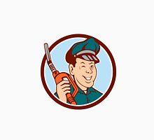 Gas Attendant Nozzle Winking Circle Cartoon Unisex T-Shirt