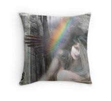 Raven Moon Rise Throw Pillow