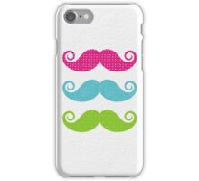 Color mustaches iPhone Case/Skin