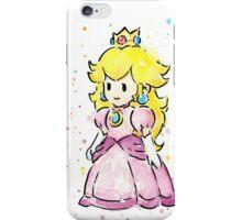 Princess Peach Watercolor iPhone Case/Skin
