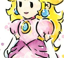 Princess Peach Watercolor Sticker