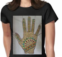 Mehndi Hand (1) Womens Fitted T-Shirt