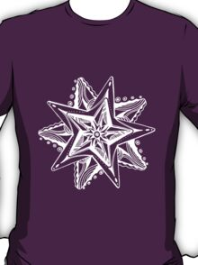 Star Tangles 4 White Lines - an Aussie Tangle by Heather - See Description Note for Colour Options T-Shirt