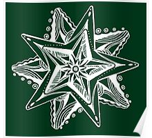 Star Tangles 4 - White Lines - Variations Poster