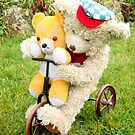 Fred Bear Wishes Barnaby Would Slow Down! by missmoneypenny