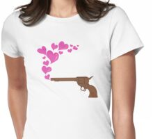 HEART BULLETS Womens Fitted T-Shirt