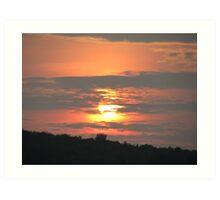 Blazing Sun Art Print