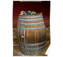 Barrel of Grapes Poster