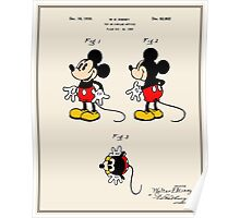 Mickey Mouse Patent - Colour Poster