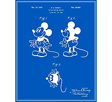 Mickey Mouse Patent - Blueprint Photographic Print