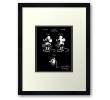 Mickey Mouse Patent - Black Framed Print