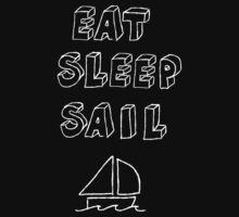 Eat Sleep Sail One Piece - Short Sleeve