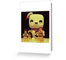Stay Puft On The Charge Greeting Card