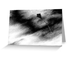 Dark kite Greeting Card