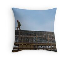 Beijing under construction Throw Pillow